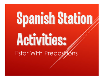 Spanish Estar With Prepositions Stations