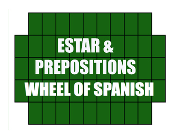 Spanish Estar With Prepositions Wheel of Spanish