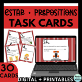 Spanish Estar and Prepositions of Location Task Cards Digital and Printable