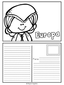 Spanish Europe Continent Booklet   48 Pages for Differentiated Learning