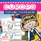 Spanish Europe Continent Booklet | 48 Pages for Differenti