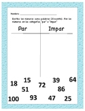 Spanish Even & Odd Numbers Practice