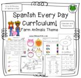 Spanish Every Day Curriculum - Farm Animals - La Granja -