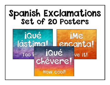 Spanish Exclamation Posters (Set of 20)