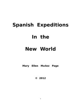 Spanish Expeditions in the New World
