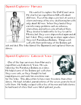 Spanish Explorer Cards