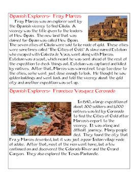 Spanish Explorer Cards