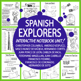 Spanish Explorers Interactive Notebook (HARD COPY) Spanish Conquistador Lessons