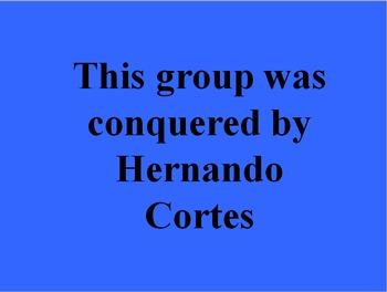 Spanish Explorers:  Jeopardy Game