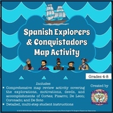 Spanish Explorers and Conquistadors Map Activity