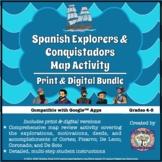 Spanish Explorers and Conquistadors Map Activity Print and Digital Bundle