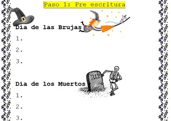 Spanish Expository Writing: Comparing Day of the Dead to Halloween
