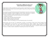 Spanish Expository Writing Template