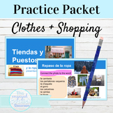 Spanish Clothing and Shopping Vocabulary Practice Packet
