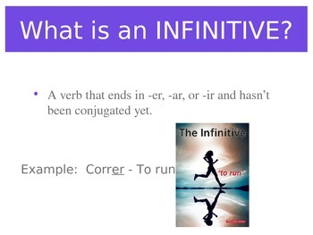 Spanish Expressions with Infinitives PowerPoint Slideshow Presentation