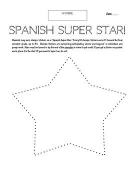 Spanish Extra Credit - Super Star