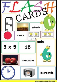 Spanish FLASH CARDS (400 multiple cards)