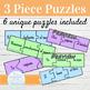 Spanish FUTURE TENSE 3-Piece Puzzles