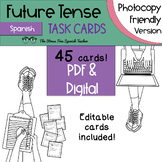Spanish FUTURE Tense Task Cards! 45 Cards! Ink Friendly! (regular & irregular!)