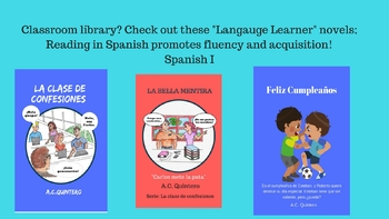 3  Comprehensible Spanish novelsFVR Reading: Levels 1 and 2/high-interest-fun!