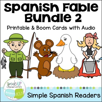 Spanish Fable Readers {Bundle #2} & Sentence forming pages
