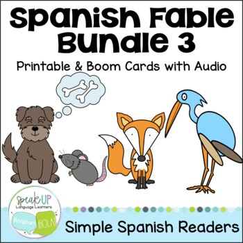 Spanish Fable Readers {Bundle #3} & Sentence forming pages
