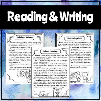 Spanish Fables - Reading & Writing Activities / Fábulas - Lectura y Escritura
