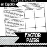 Spanish Factor Pairs Solve and Snip