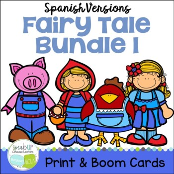 Spanish Fairy Tale Readers {Bundle #1} & Sentence forming pages