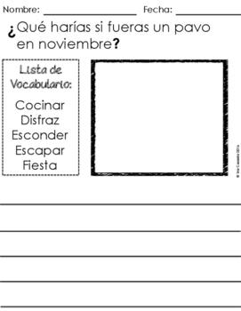 Spanish Fall Autumn Writing Prompts