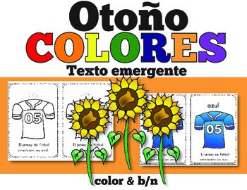 Spanish Fall Color Words Emergent Reader