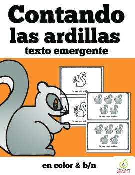 Spanish Emergent Reader: Squirrel Counting