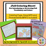 """Spanish Fall Coloring Page """"The Leaves of Autumn"""""""