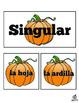 Spanish Fall Literacy Center: Sorting Singular and Plural