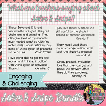 Spanish Fall Math Activity | Multi-Step Problems Solve and Snip® | 3rd and 4th