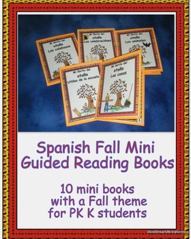 Spanish Fall Mini Guided Reading Books in Color
