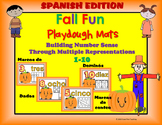 Otono! Spanish Fall Number Sense Playdough Mats Bundle