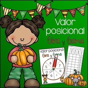 Spanish: Fall Place Value Spin and Win