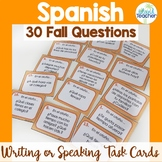 Spanish Task Cards Fall Questions Speaking or Writing Activity