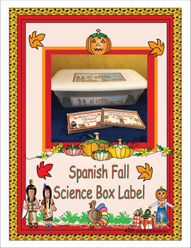 Spanish Fall Science Box Label