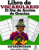 Spanish Thanksgiving Vocabulary Flip Book