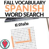 Spanish Fall Vocabulary - Spanish Word Search