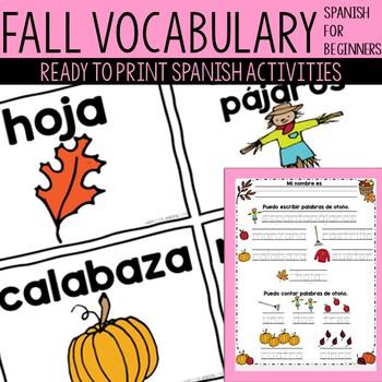 Spanish Fall Vocabulary and Activities!