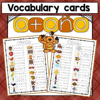 Fall Vocabulary  ~Spanish~