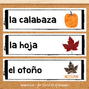Spanish Fall Word Wall