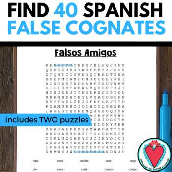Spanish False Cognates WORD SEARCH
