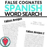Spanish Vocabulary - Spanish False Cognates Word Search -