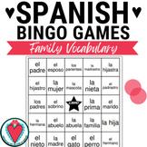 Spanish Family - Spanish Vocabulary Bingo Game - La Familia