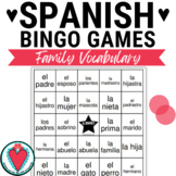 Spanish Family - Spanish Vocabulary Bingo Game - La Familia