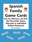 Spanish Family Cards for Flashcards, Memory, Go Fish, Flyswatter Game